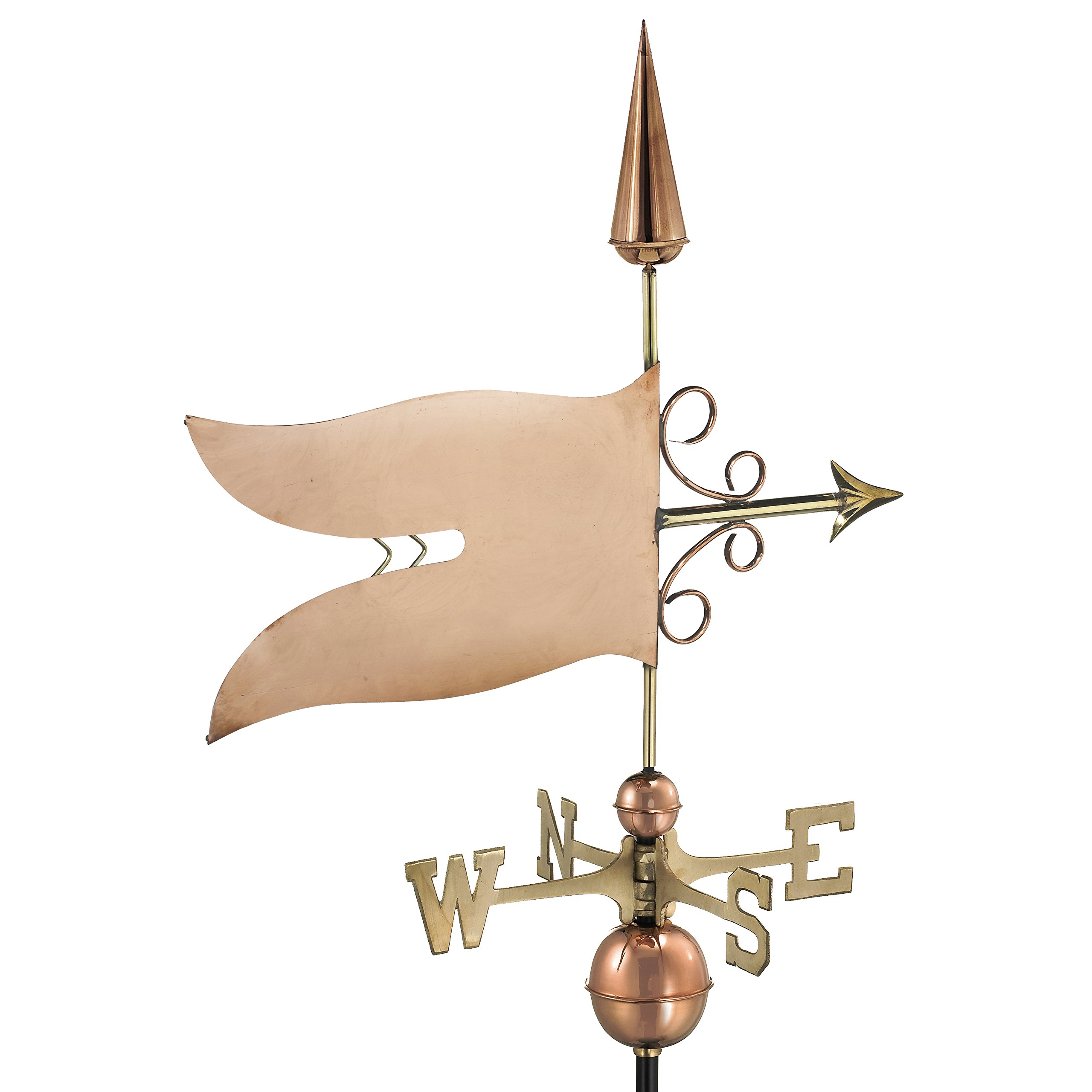 Good Directions Banner Weathervane, Pure Copper