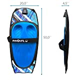Water Sport Knee Board with Integrated Hook for