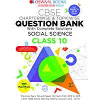 Oswaal CBSE Question Bank For  Class 10 Social Science (Mar 2019 Exam)