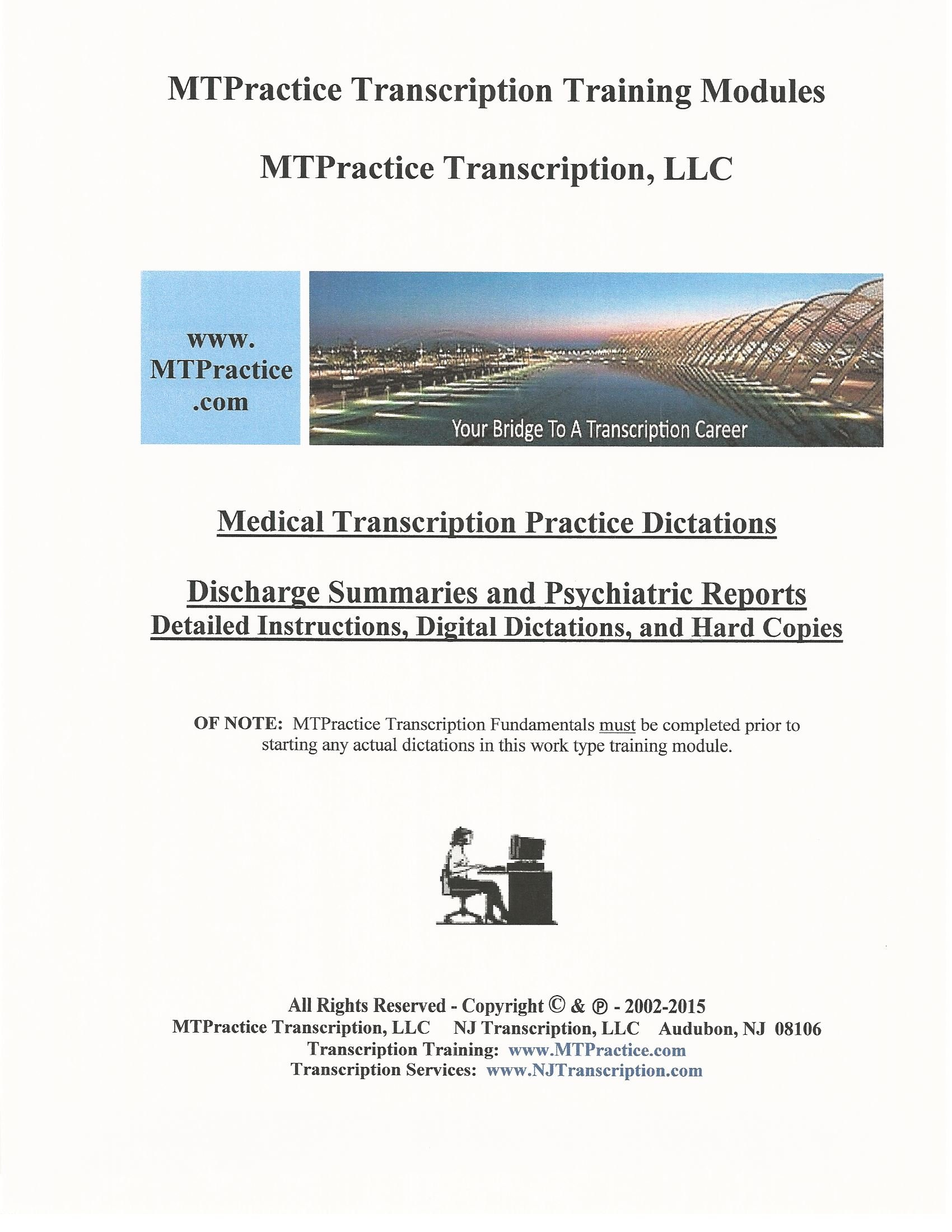 Mtpractice Transcription Training Modules Discharge Summaries And