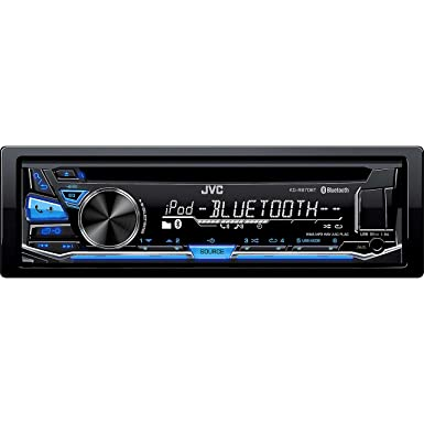 JVC KD-R870BT CD MP3 Car Stereo USB AUX AM FM Radio iPod iPhone Android Receiver with Dual Phone Connection Built in Bluetooth and Hands Free Calling and Audio Streaming with Remote Control