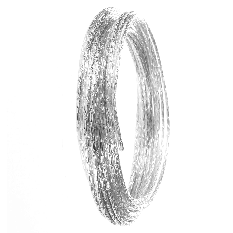 effet de diamant 1, argent Creacraft 5m Fil dAluminium Structur/é pour Perlage et Bijoux