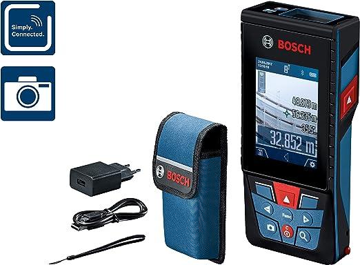 Bosch Professional Medidor láser de distancia GLM 120 C, Cámara ...