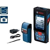 Bosch Professional Laser Entfernungsmesser GLM 120 C (Messbereich: 0,08 - 120 Meter, Zubehör Set, in Schutztasche)