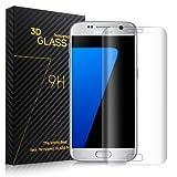 SURWELL Trasparente Pellicola protettiva per Samsung Galaxy S7 edge Vetro Temperato Protezione copertura completa/ 3d curva