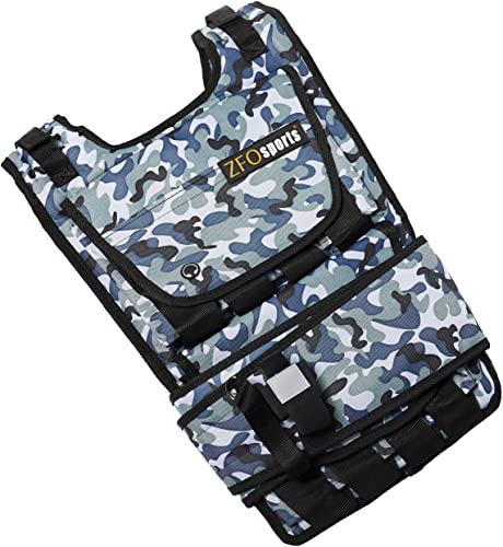 ZFOsports Weighted Vest 40lbs 60lbs 80lbs Arctic 40LBS