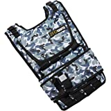 ZFOsports Arctic Camouflage Adjustable Weighted Vest With Phone Pocket & Water bottle holder