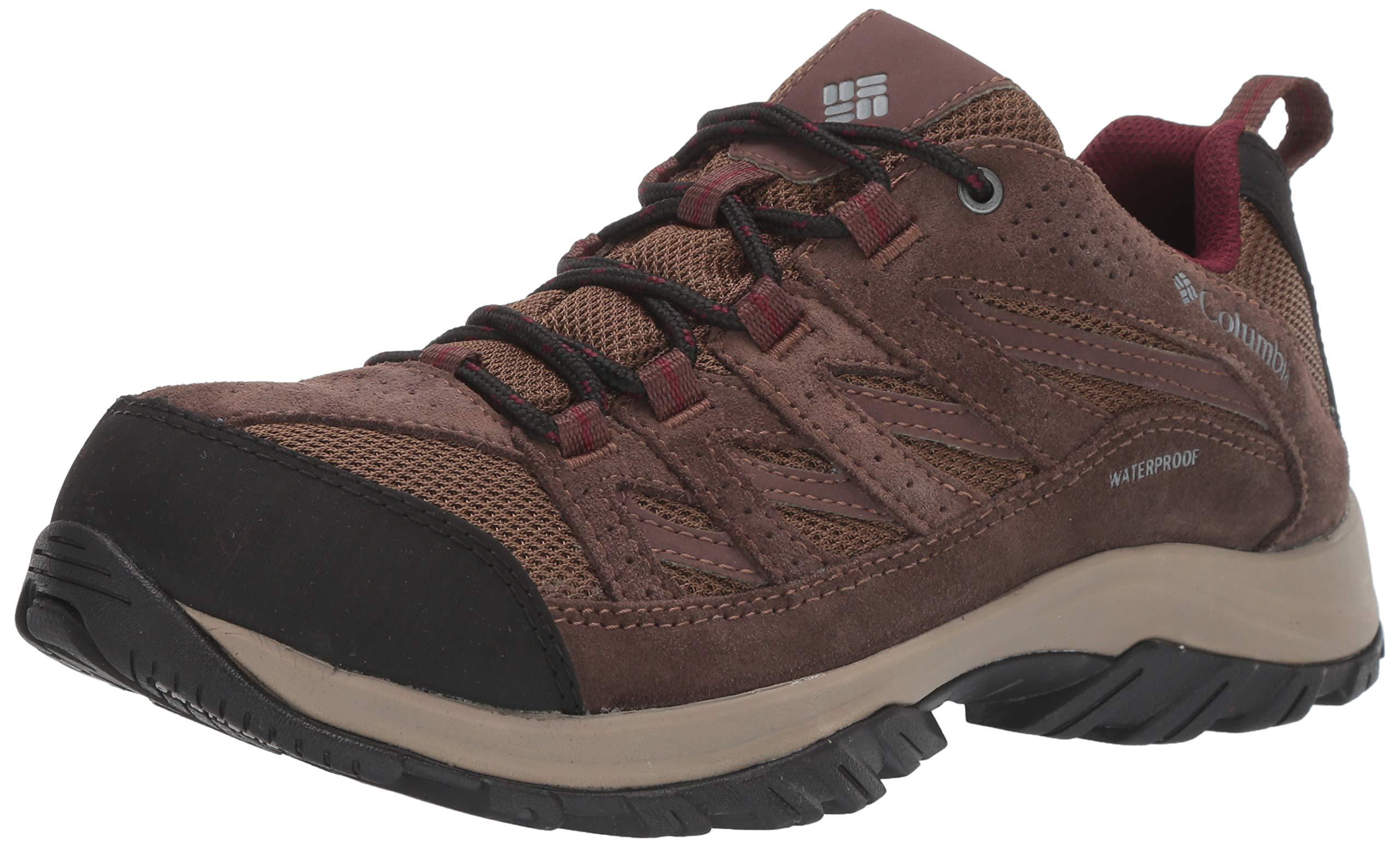 Columbia Women's Crestwood Waterproof Hiking Shoe, Dark Truffle, Rich Wine, 6.5 Regular US by Columbia
