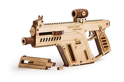 Wood Trick Assault Rifle Gun Wooden Model Toy Gun Guns For Kids 3d Wooden Puzzle Mechanical Model To Build Assembly Model Brain Teaser For