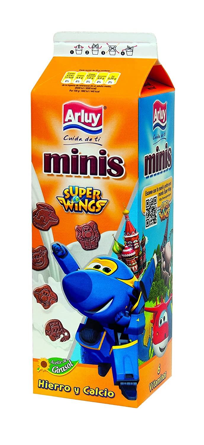 Arluy Galletas Minis Super Wings - Paquete de 12 x 275 gr - Total: 3300 gr: Amazon.es: Alimentación y bebidas