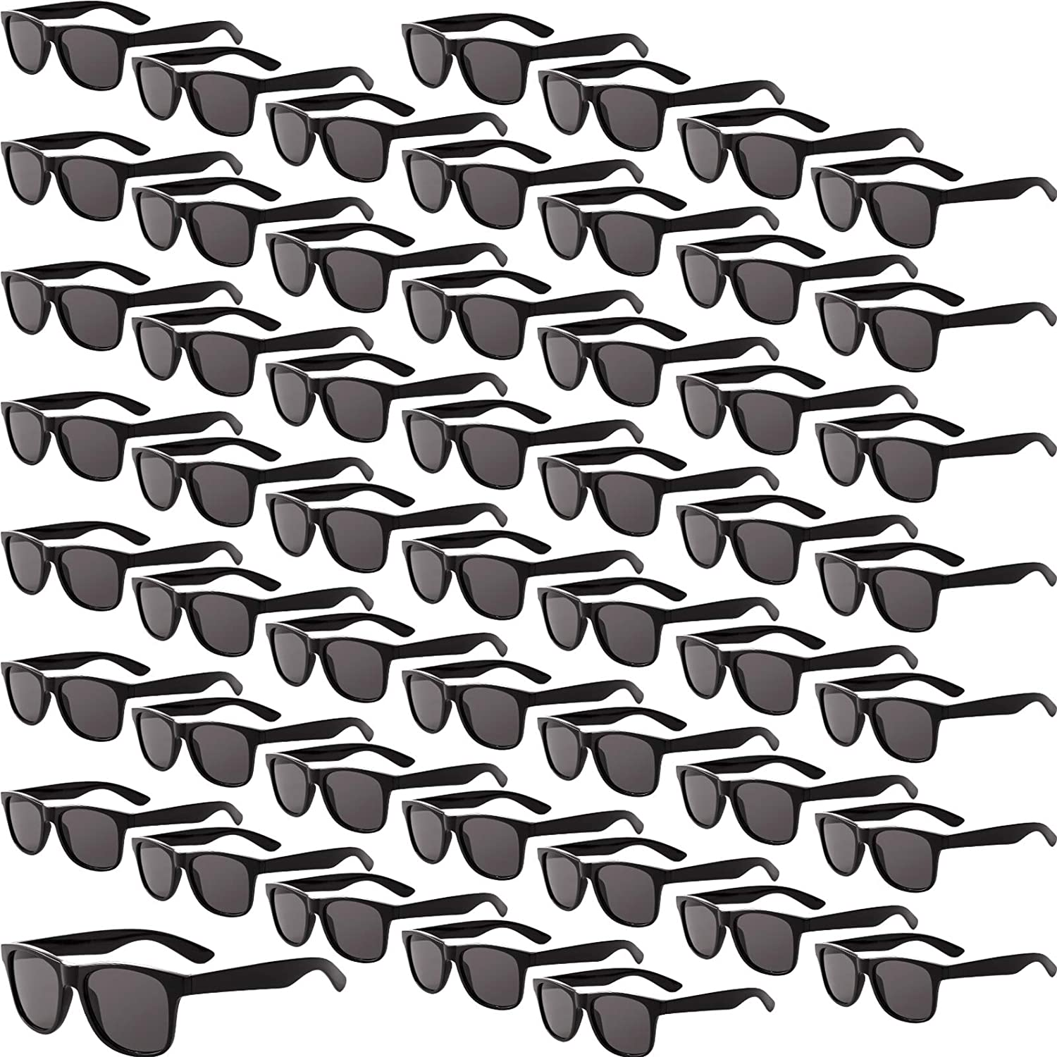 60 Pairs Vintage Sunglasses Black Classic Sunglasses Plastic Retro Style Eyewear for Party Accessories Women and Men Favors
