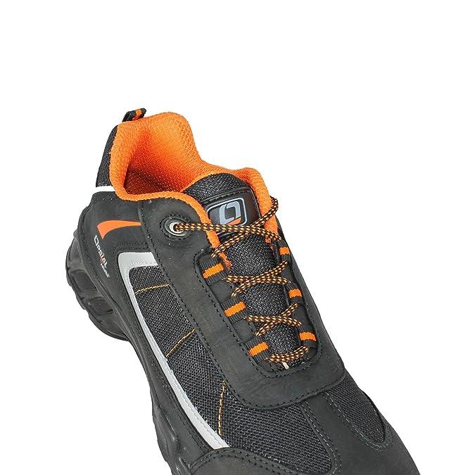 Opsial - Calzado de protección de Piel para Hombre, Color Negro, Talla 43: Amazon.es: Zapatos y complementos