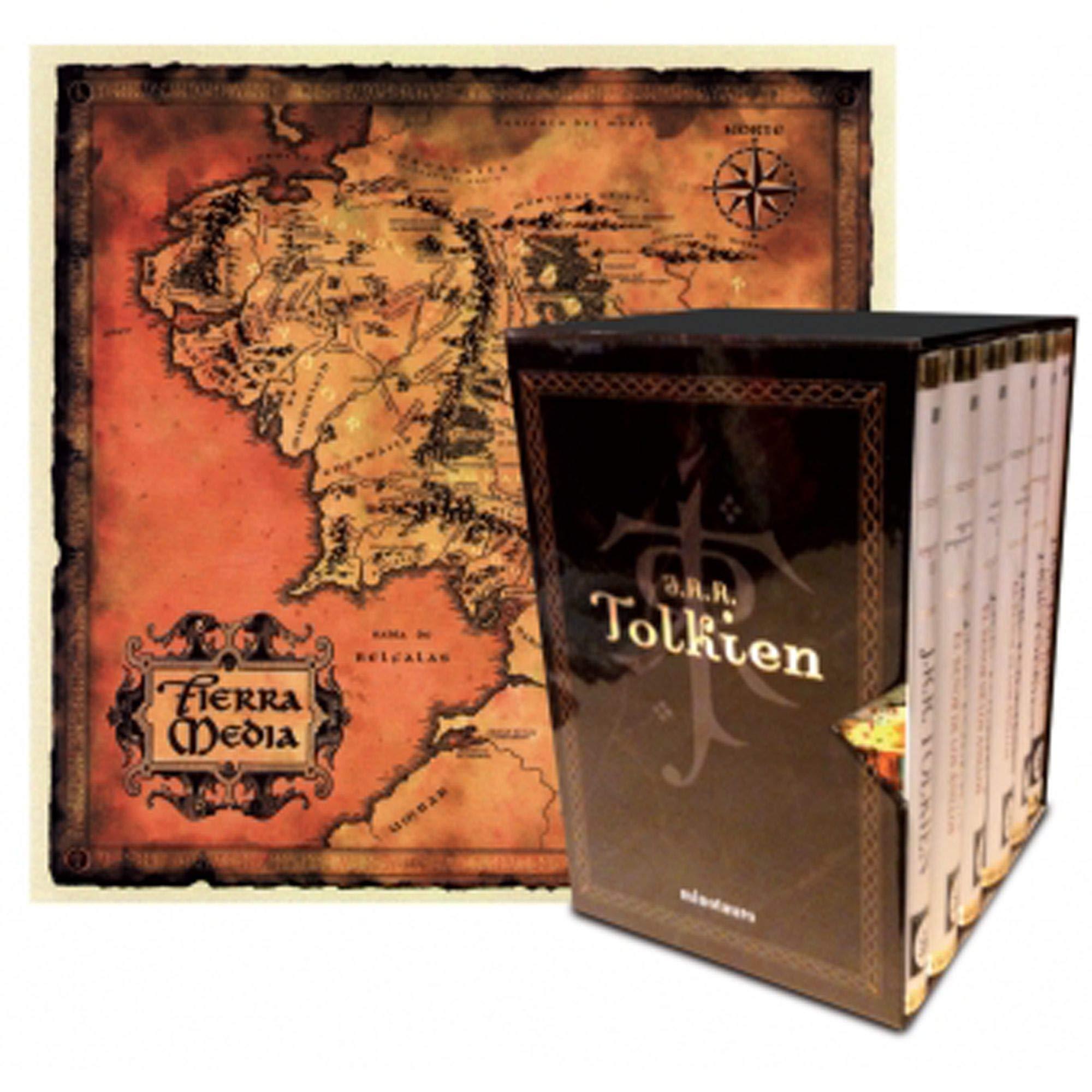 Estuche Tolkien 6 vols. + mapa + postales Biblioteca J. R. R. ...