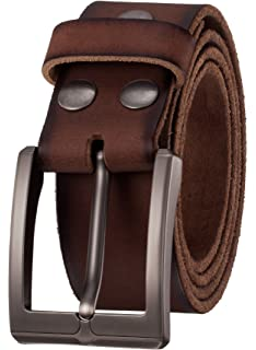 1.5 Width Men/'s Classic Casual Jean Style Strong Built Genuine Leather Belt