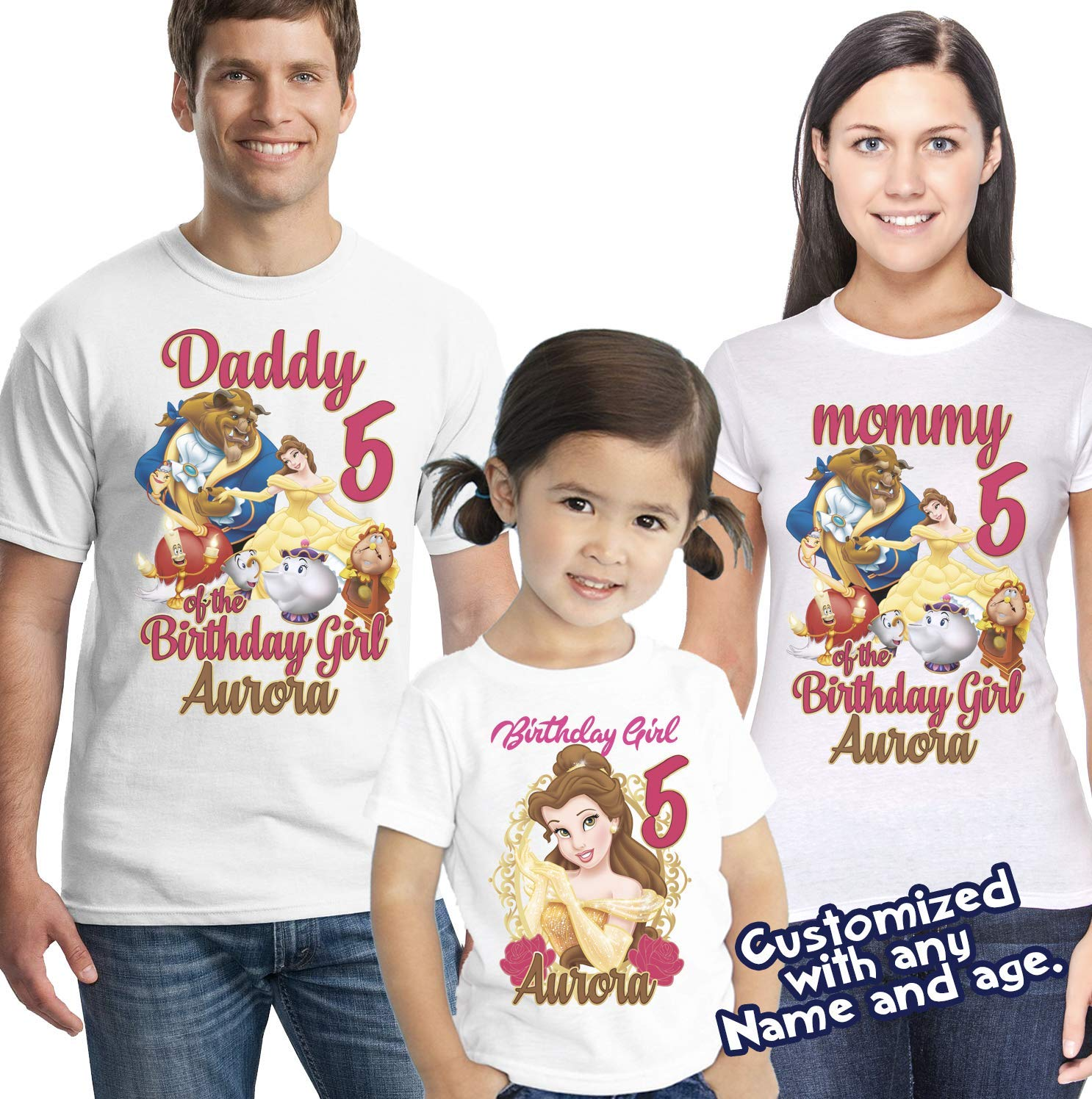 Beauty and the Beast Princess Belle Unisex Kids Boy Girl Top Tee Youth T-Shirt