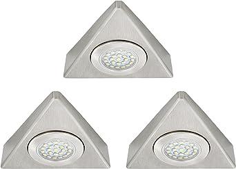 dimmbare LED Möbelleuchten Aufbau Unterbauleuchten dreieck