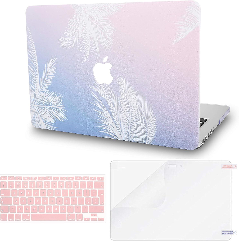 Lamina Protectora MacBook Pro 13.3 Ultra Delgado Pl/ástico {A1989//A1706//A1708} 2019//2018//2017//2016, Touch Bar Funda Dura Case w//EU Cubierta Teclado KECC MacBook Pro 13 Pulgadas Pluma Azul