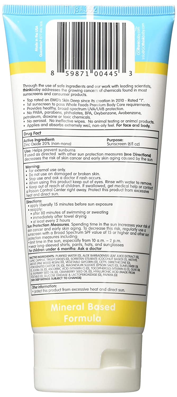 Thinksport – Kid s Safe Sunscreen Cream – SPF 50 – 6oz