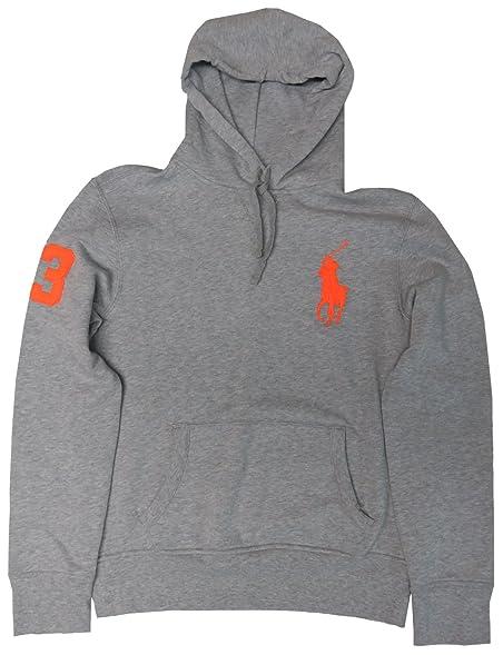 Polo Ralph Lauren Men\u0027s Big Pony Hooded Sweat Jacket Hoodie Grey, Medium