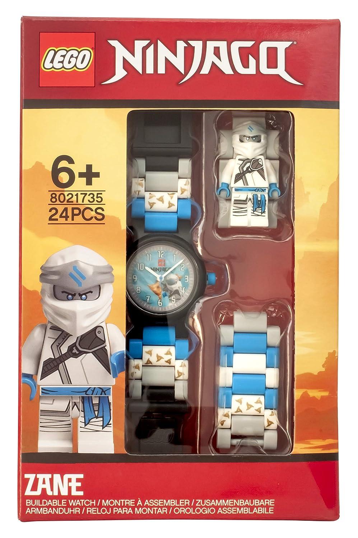 ClicTime Boys Lego Ninjago Analog Quartz Watch with Plastic Strap, Off-White, 18 (Model: 8021735)
