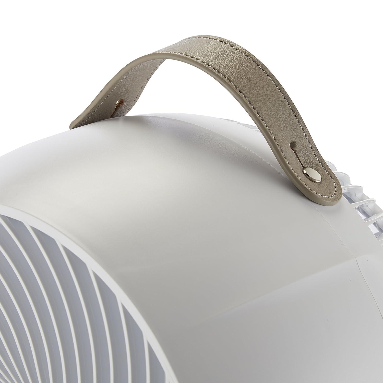 Schwenkbetrieb ultra leise Infrarotfernbedienung Meaco Fan 1056 DC Tischventilator 80/° horziontal und 60/° vertikal autom Touchfeld