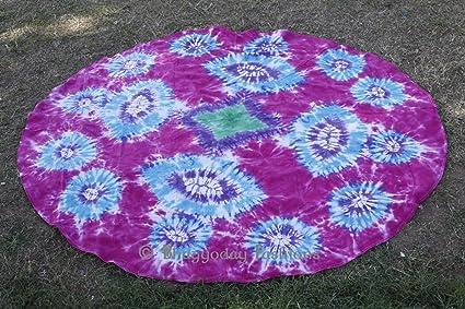 Amazon Indian Round Mandala Tie Dye Shibori Marble Tapestry