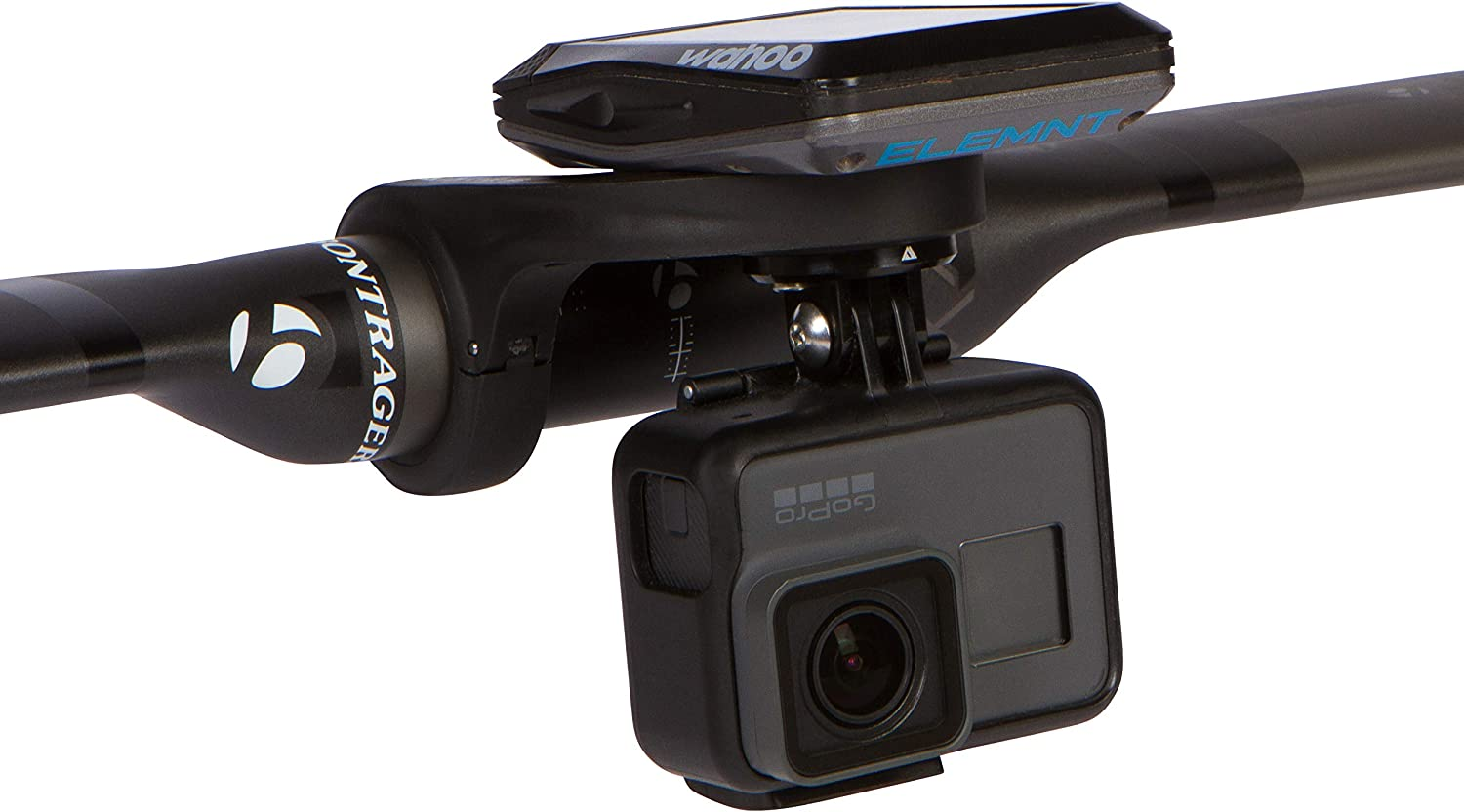 KOM Cycling GoPro Cycling Computer Mount Bundle Compatible with Wahoo Elemnt, Elemnt Mini, Bolt, and Most Garmin Edge Mounts - for GoPro Hero 7, Hero 6, Hero 5, Hero 4, 3+, 3, 2 and HD Cameras