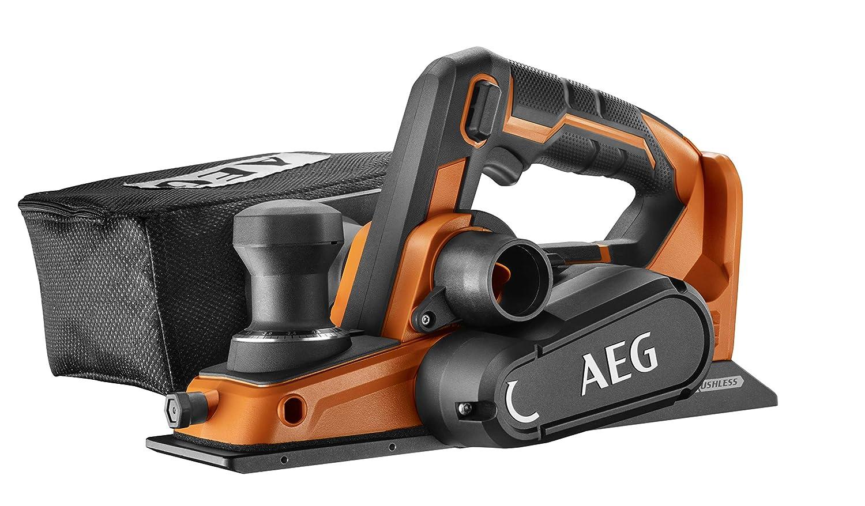 AEG 4935464988 BHO18BL-0 Rabot 18 V, ouverture de sortie gauche + droite, largeur de rabot 82 mm, avec sac /à poussi/ère, sans batterie