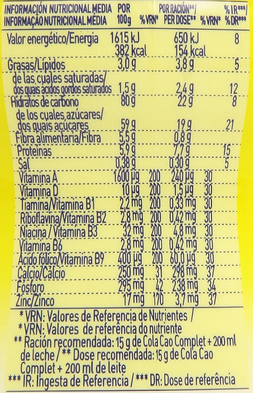 ColaCao Complet Bebida con Sabor a Chocolate - 360 g: Amazon.es: Amazon Pantry