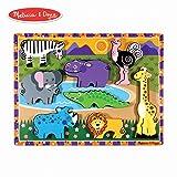 Melissa&Doug 木质动物拼图 儿童益智玩具