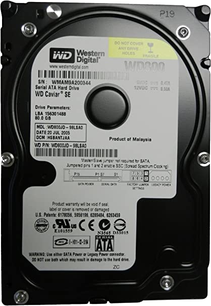 Western Digital Caviar SE 80GB SATA Desktop Hard Drive WD800JD-55MSA1