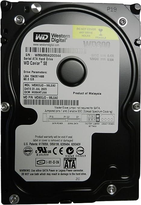 """Hard Drive WD800AAJS Western Digital Caviar SE 80 GB,Internal,7200 RPM,3.5/"""""""