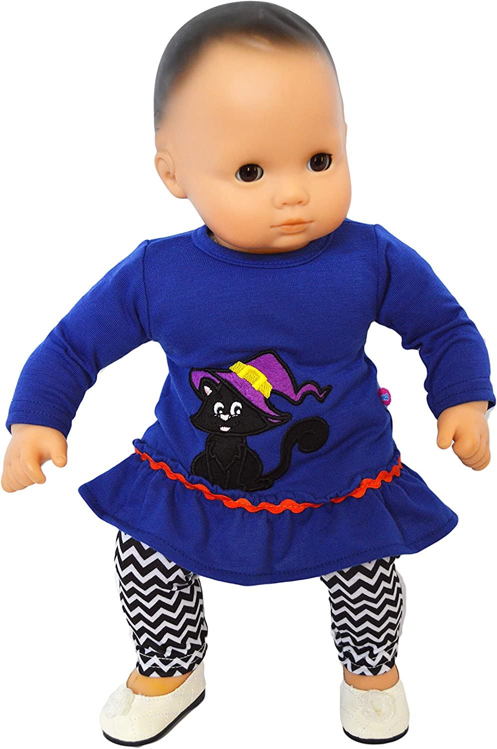Brittanys Spooky Kitten Outfit Compatible with Baby Dolls 15 Inch Doll Clothes