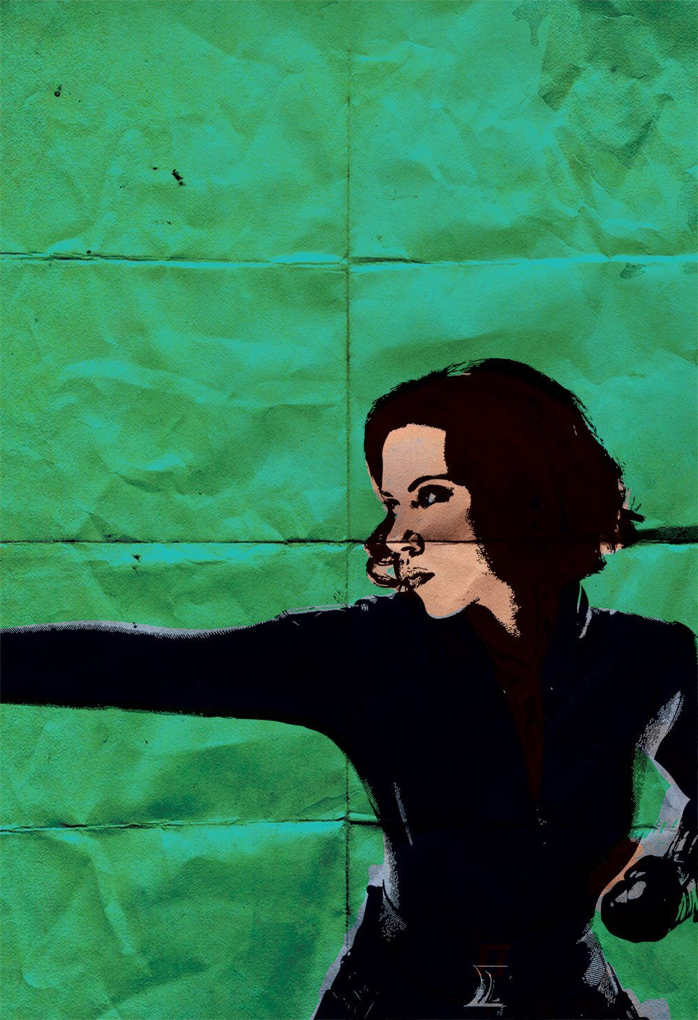 Amazon Com Black Widow Avengers Poster Illustration Natasha