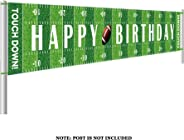 Colormoon Large Football Happy Birthday Party Banner, Game Day Sports Party Decorations, Football Photo Backdrop Hanging Deco