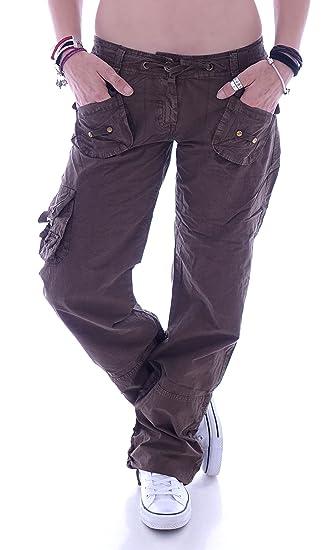 Style Station Damen Cargohose Stoffhose Cargo Hose Hüfthose Jeans XS 34 S 36 M 38 L 40 XL 42