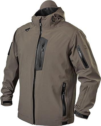 BLACKHAWK!: chaqueta táctica de softshell para hombre - JK01, Large, Fatiga