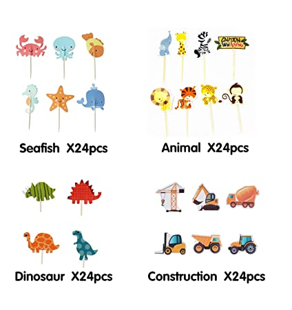 Halloween Themed Baby Shower Games.Amazon Com Cupcake Toppers Pack Decorations Ocean Sea Mermaid Theme