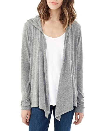 Alternative - Women's Eco-Jersey Hooded Warm-Up Wrap Cardigan ...