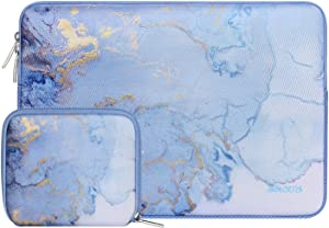 MOSISO Laptop Sleeve Compatible with 2019 MacBook Pro 16 inch Touch Bar A2141, 15-15.6 inch MacBook Pro Retina A1398 2012-2015, Notebook, Water Repellent Neoprene Watercolor Marble Bag with Small Case