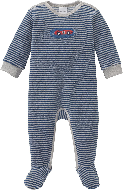 Schiesser Baby-Jungen Grand Prix Anzug mit Fu/ß Zweiteiliger Schlafanzug