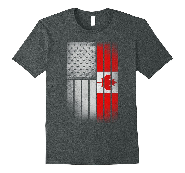 Half Canadian Half American T-shirt-Vaci