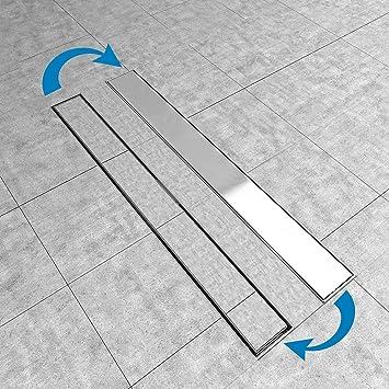 Canaleta de desagüe de ducha que se puede escurrir, desagüe de suelo de acero inoxidable (apto para cabina de ducha, baño, piscina, drenaje), 2 en 1, 50 – 80 cm: Amazon.es: Bricolaje y herramientas