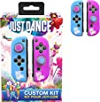 Just Dance 2019 - Kit personalizzato - Custodie in silicone di protezione per JoyCon, guscio morbido antiscivolo con accessori di precisione (Thumb grip Caps)  per Nintendo Switch Joy-Con controller