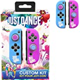 Just Dance 2019 - Kit personalizzato - Custodie in silicone di protezione per JoyCon, guscio morbido antiscivolo con accessori di precisione (Thumb grip Caps)  per Nintendo Switch Joy-Con controller