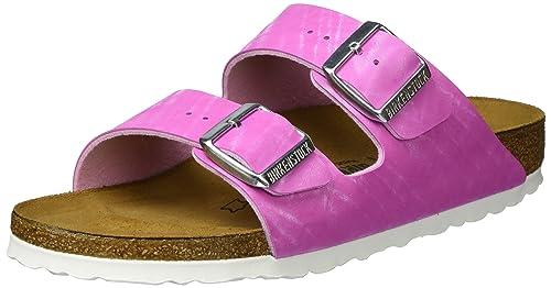 6da135454759 Birkenstock Womens Arizona Shiny Check Rose Birkoflor Sandals 36 EU