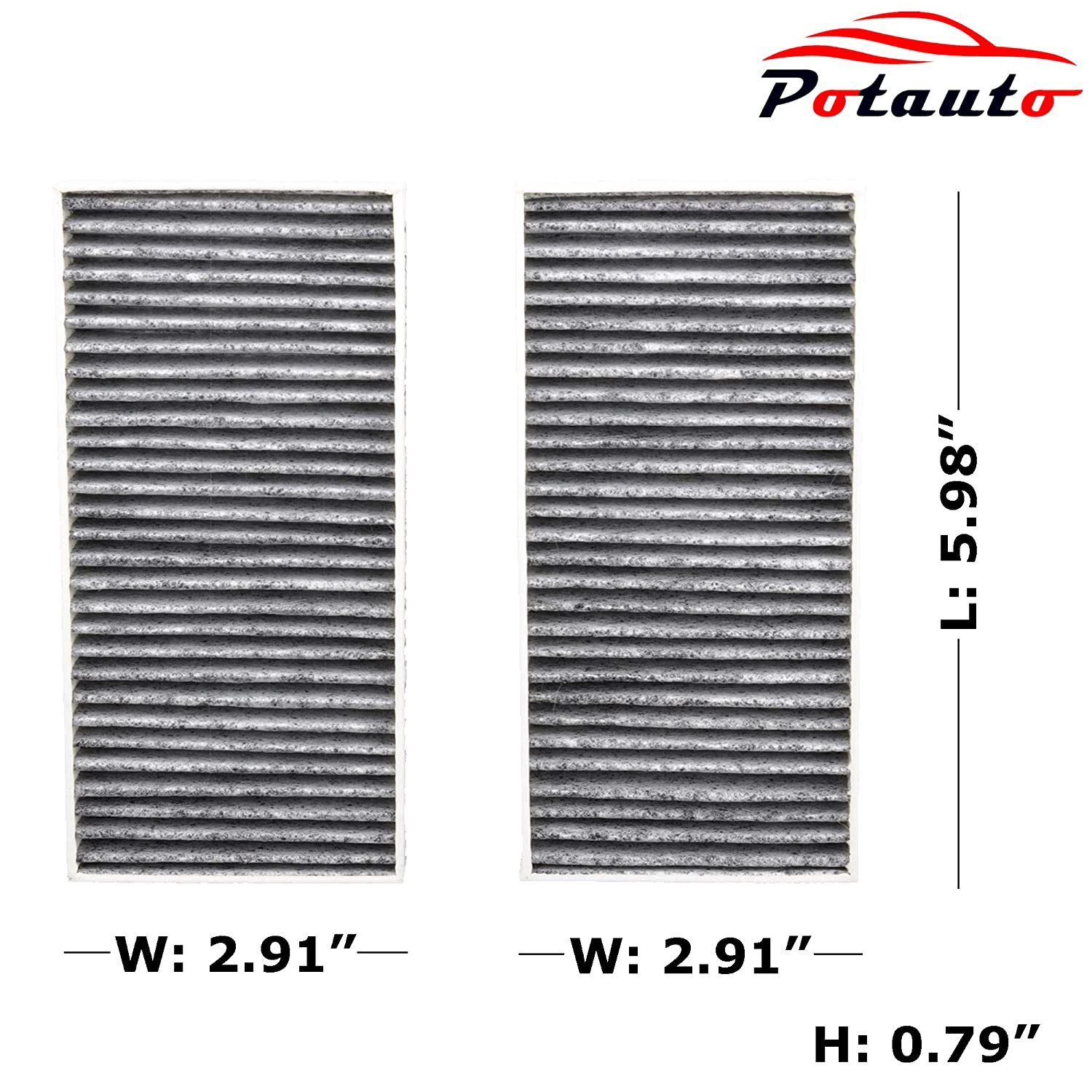 CF11777 WRANGLER POTAUTO MAP 2010C Replacement Activated Carbon Car Cabin Air Filter for JEEP
