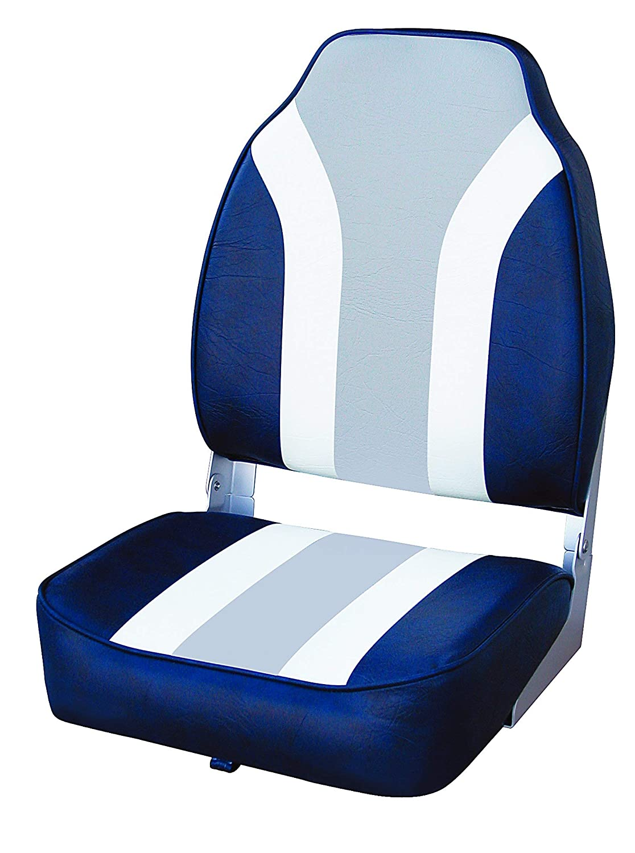 Wise Classic Stripe High Back Boat Seat Renewed