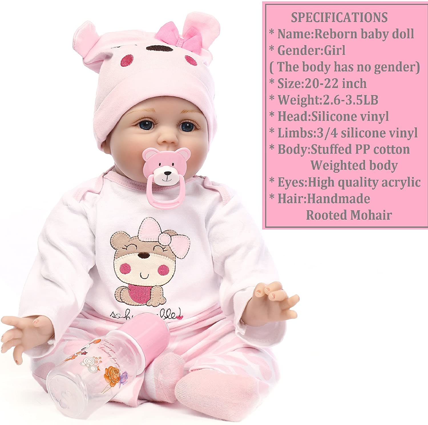 Medylove Reborn Toddler Dolls Girls 28 inch Weighted Reborn Doll Soft Silicon...