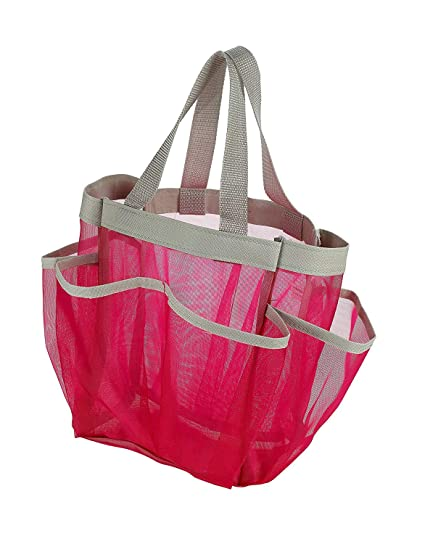 Amazon.com: Favson 7 Pocket Shower Caddy Tote, Pink - Keep Your ...